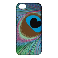 Peacock Feather Lines Background Apple iPhone 5C Hardshell Case
