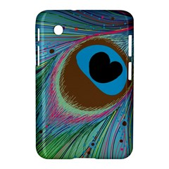 Peacock Feather Lines Background Samsung Galaxy Tab 2 (7 ) P3100 Hardshell Case