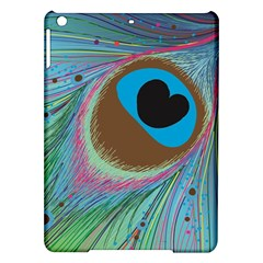 Peacock Feather Lines Background iPad Air Hardshell Cases