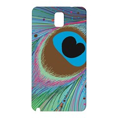 Peacock Feather Lines Background Samsung Galaxy Note 3 N9005 Hardshell Back Case