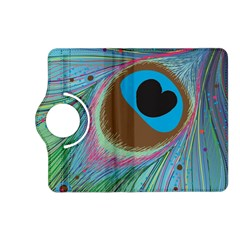 Peacock Feather Lines Background Kindle Fire Hd (2013) Flip 360 Case