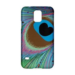 Peacock Feather Lines Background Samsung Galaxy S5 Hardshell Case