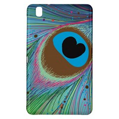 Peacock Feather Lines Background Samsung Galaxy Tab Pro 8 4 Hardshell Case