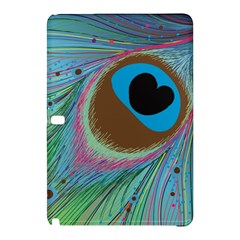 Peacock Feather Lines Background Samsung Galaxy Tab Pro 12.2 Hardshell Case