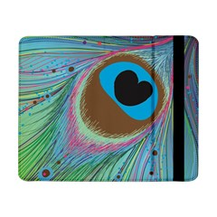 Peacock Feather Lines Background Samsung Galaxy Tab Pro 8.4  Flip Case