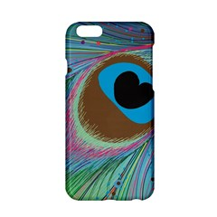 Peacock Feather Lines Background Apple iPhone 6/6S Hardshell Case