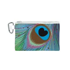 Peacock Feather Lines Background Canvas Cosmetic Bag (s)