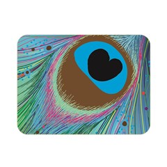 Peacock Feather Lines Background Double Sided Flano Blanket (Mini)