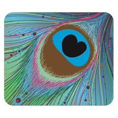 Peacock Feather Lines Background Double Sided Flano Blanket (Small)