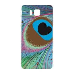 Peacock Feather Lines Background Samsung Galaxy Alpha Hardshell Back Case