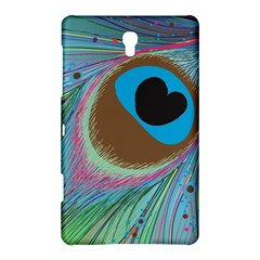 Peacock Feather Lines Background Samsung Galaxy Tab S (8.4 ) Hardshell Case