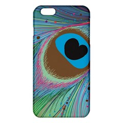 Peacock Feather Lines Background Iphone 6 Plus/6s Plus Tpu Case