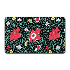 Vintage Floral Wallpaper Background Magnet (Rectangular)