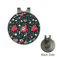 Vintage Floral Wallpaper Background Hat Clips with Golf Markers