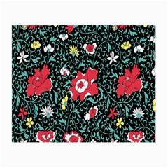 Vintage Floral Wallpaper Background Small Glasses Cloth