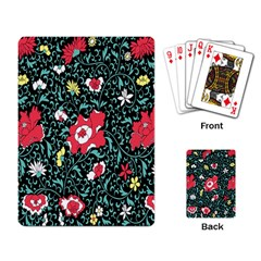 Vintage Floral Wallpaper Background Playing Card