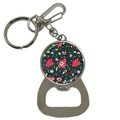 Vintage Floral Wallpaper Background Button Necklaces