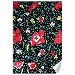 Vintage Floral Wallpaper Background Canvas 20  x 30