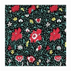 Vintage Floral Wallpaper Background Medium Glasses Cloth