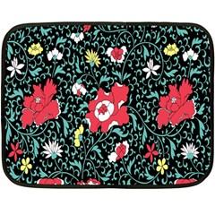 Vintage Floral Wallpaper Background Fleece Blanket (Mini)