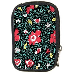 Vintage Floral Wallpaper Background Compact Camera Cases
