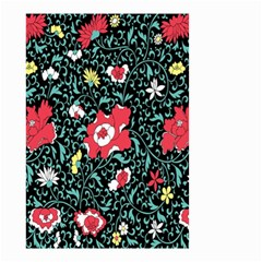 Vintage Floral Wallpaper Background Small Garden Flag (Two Sides)
