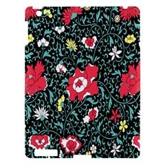 Vintage Floral Wallpaper Background Apple iPad 3/4 Hardshell Case
