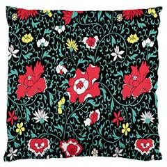 Vintage Floral Wallpaper Background Large Cushion Case (one Side)