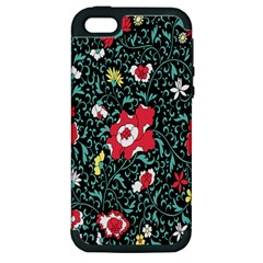 Vintage Floral Wallpaper Background Apple iPhone 5 Hardshell Case (PC+Silicone)