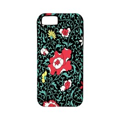 Vintage Floral Wallpaper Background Apple Iphone 5 Classic Hardshell Case (pc+silicone)
