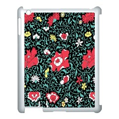 Vintage Floral Wallpaper Background Apple iPad 3/4 Case (White)