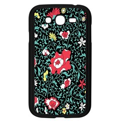 Vintage Floral Wallpaper Background Samsung Galaxy Grand DUOS I9082 Case (Black)