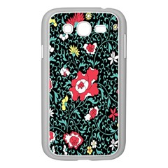 Vintage Floral Wallpaper Background Samsung Galaxy Grand DUOS I9082 Case (White)