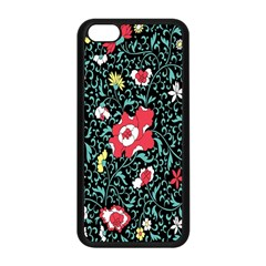 Vintage Floral Wallpaper Background Apple iPhone 5C Seamless Case (Black)