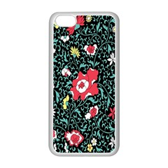Vintage Floral Wallpaper Background Apple iPhone 5C Seamless Case (White)