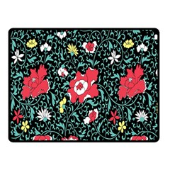 Vintage Floral Wallpaper Background Double Sided Fleece Blanket (small)