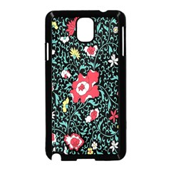 Vintage Floral Wallpaper Background Samsung Galaxy Note 3 Neo Hardshell Case (Black)