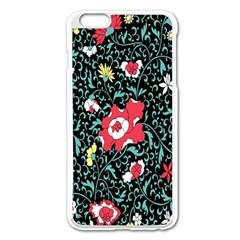 Vintage Floral Wallpaper Background Apple iPhone 6 Plus/6S Plus Enamel White Case
