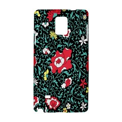 Vintage Floral Wallpaper Background Samsung Galaxy Note 4 Hardshell Case
