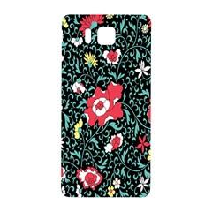 Vintage Floral Wallpaper Background Samsung Galaxy Alpha Hardshell Back Case