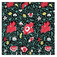Vintage Floral Wallpaper Background Large Satin Scarf (square)