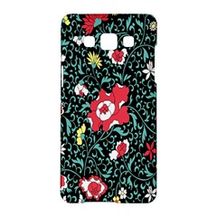 Vintage Floral Wallpaper Background Samsung Galaxy A5 Hardshell Case