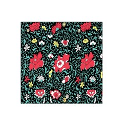Vintage Floral Wallpaper Background Satin Bandana Scarf