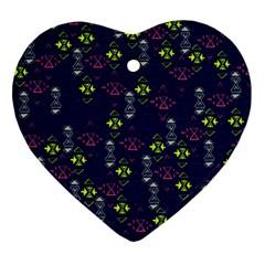 Vintage Unique Pattern Ornament (Heart)
