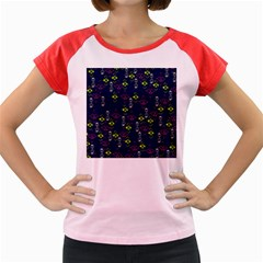 Vintage Unique Pattern Women s Cap Sleeve T-Shirt