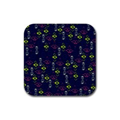 Vintage Unique Pattern Rubber Square Coaster (4 pack)