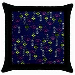 Vintage Unique Pattern Throw Pillow Case (Black)