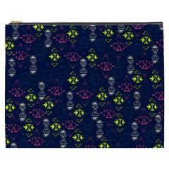 Vintage Unique Pattern Cosmetic Bag (xxxl)