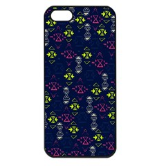 Vintage Unique Pattern Apple iPhone 5 Seamless Case (Black)