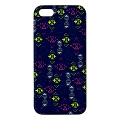 Vintage Unique Pattern iPhone 5S/ SE Premium Hardshell Case